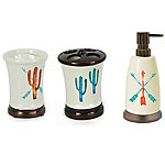 HiEnd Accents Cactus 3 pc. Cast Resin Bath Set BA1756