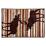 HiEnd Accents Moose Stripe Rug BL1802