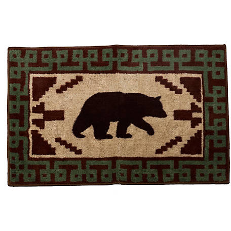 HiEnd Accents Bear With Green Border Rug BL1811-TT-OC