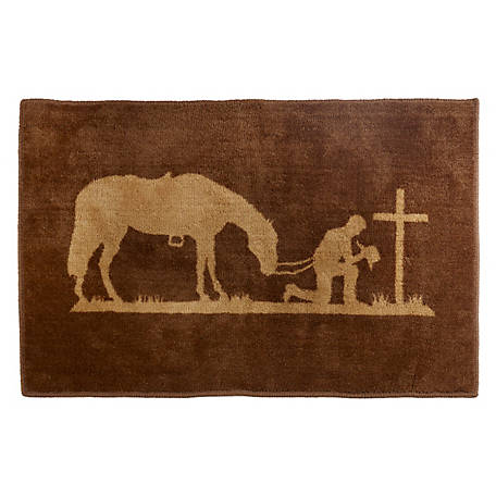 HiEnd Accents Praying Cowboy Rug BW3197-TT-OC