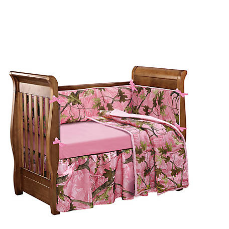 HiEnd Accents Pink Camo Crib Set CS0004