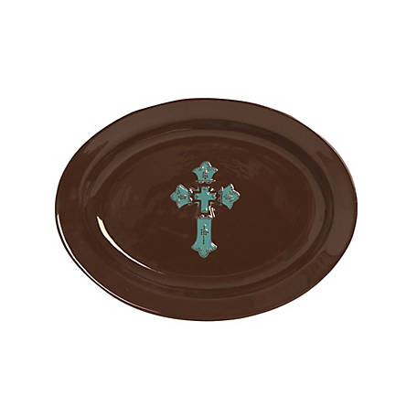 HiEnd Accents Star Serving Platter Turquoise, DI2010SP01