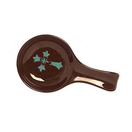 HiEnd Accents Cross Spoon Rest Turquoise, DI3182SR01