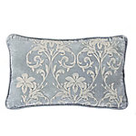 HiEnd Accents Embroidery Velvet Pillow FB1772P1