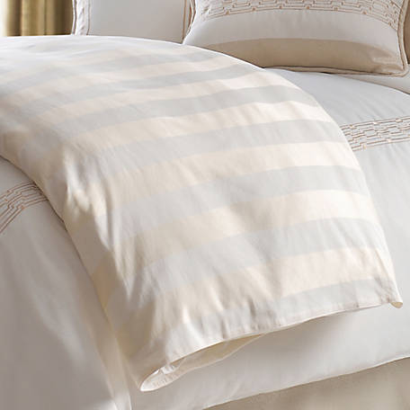 HiEnd Accents Hollywood Cabana Stripe Duvet Super King, FB1774DU-SK-OC