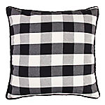 HiEnd Accents Black Buffalo Check Euro Sham FB1776E1