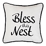 HiEnd Accents Bless The Nest Embroidery Pillow FB1776P4