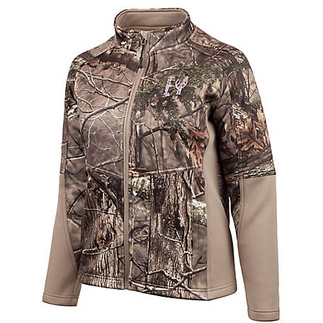 Huntworth Women's Hidden Camo Soft Shell Jacket, E-967-W-HDN