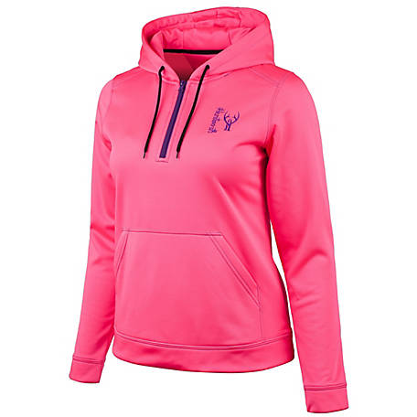 Huntworth Women's Blaze Pink Performance Hoodie E-926-W-31BP