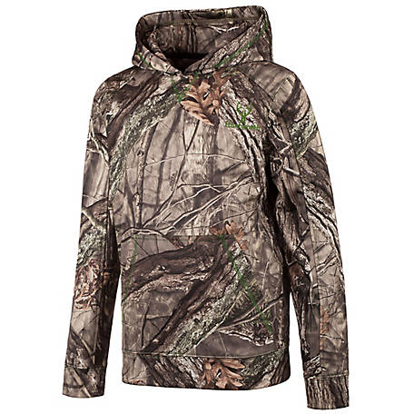 Huntworth Boys' Youth Boys Hidden Camo Hoodie E-948-Y-HDN