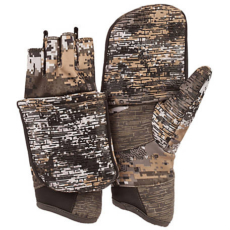 Huntworth Men's Digital Camo Pop Top Glove, E-1208-30DC