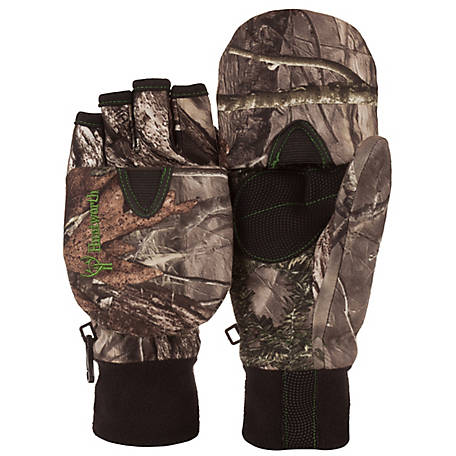 Huntworth Youth Hidden Camo Pop Top Glove, E-06-Y-HDN