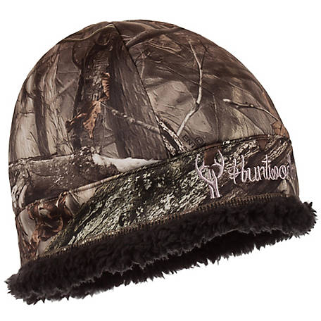 Huntworth Ladies Hidden Camo Fleece Beanie, E-5703-HDN