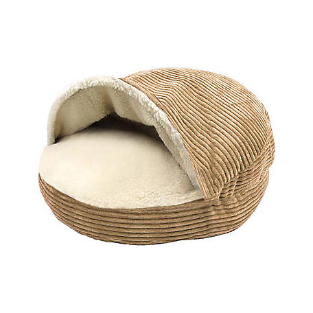 Precious Tails Cozy Corduroy And Sherpa Lined Pet Cave Bed, 25 in.