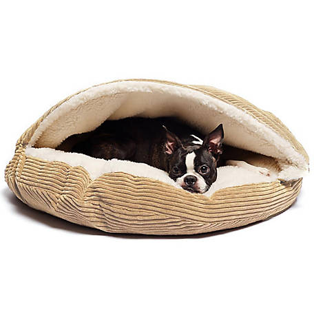 Precious Tails Cozy Corduroy And Sherpa Lined Pet Cave Bed, 35 in.