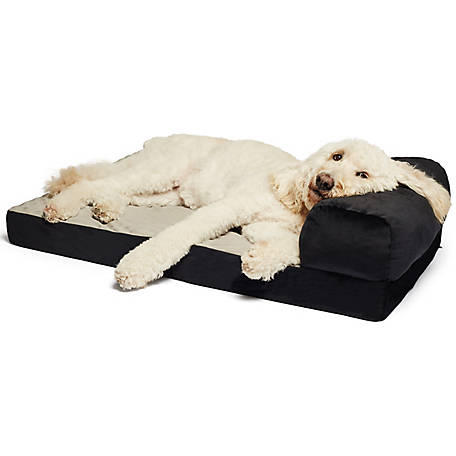 Precious Tails Large Velvet Orthopedic Foam Foldable Chaise Dog Bed
