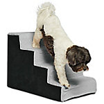 Precious Tails High Density Foam Sherpa 4 Steps Pet Stairs, ED1621SS-CML