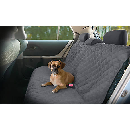Precious Tails Quilted Microsuede Bench Car Seat Protector Cover, ERA64CS-BLK