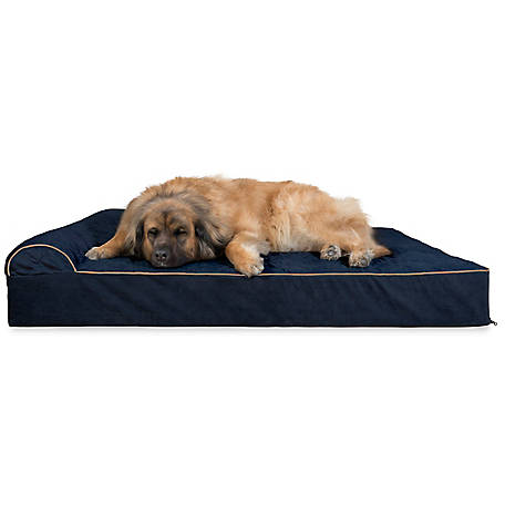 FurHaven Quilted Faux Fur & Velvet Goliath Chaise Lounge Dog Bed