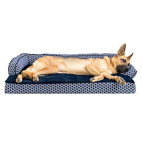 FurHaven Comfy Couch Memory Foam Sofa Dog Bed