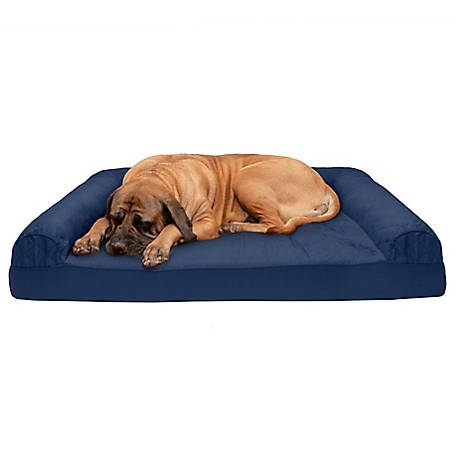 FurHaven Pet Quilted Cooling Gel Sofa Dog Bed