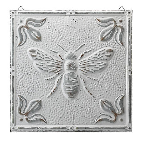 Red Shed White Metal Bee Ceiling Tiles