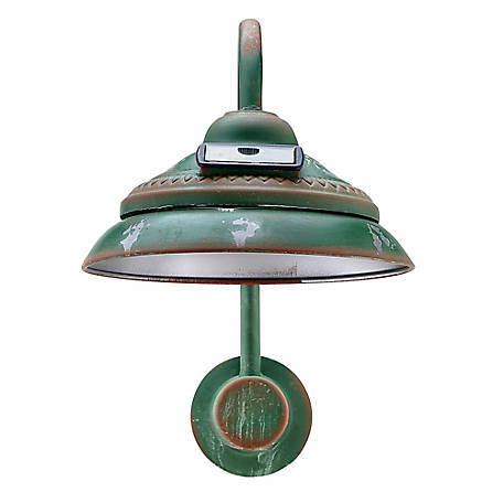 Red Shed Soft Glowing Rustic Solar Powered Lamp, Green