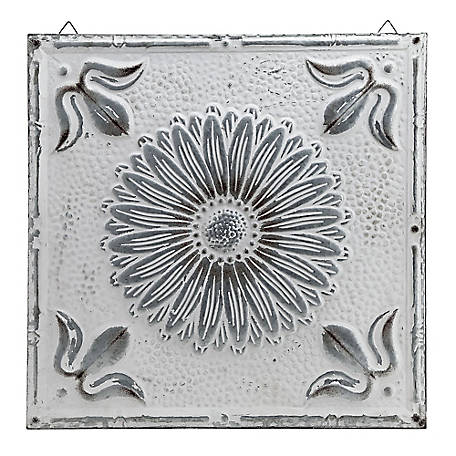 Red Shed Metal Flower Ceiling Tile, White