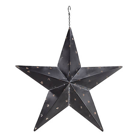 Red Shed Galvanized Barn Star, Black