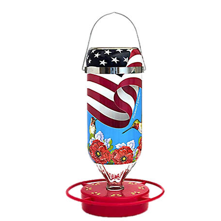 Hummer's Galore American Flag Feeder 32 ox., 22032