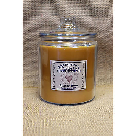 Thompson's Candle Butter Rum 64 oz. 3 Wick Heritage Jar Candle, BRHJ