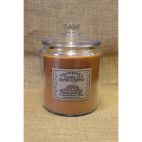 Thompson's Candle Cinnamon Bun 64 oz. 3 Wick Heritage Jar Candle, CBHJ