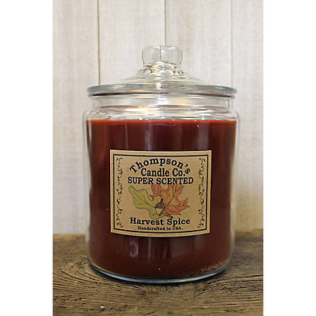 Thompson's Candle Harvest Spice 64 oz. 3 Wick Heritage Jar Candle, HVHJ