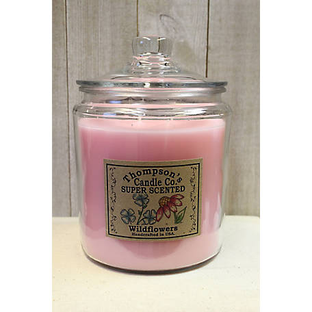 Thompson's Candle Wildflowers 64 oz. 3 Wick Heritage Jar Candle, WIHJ