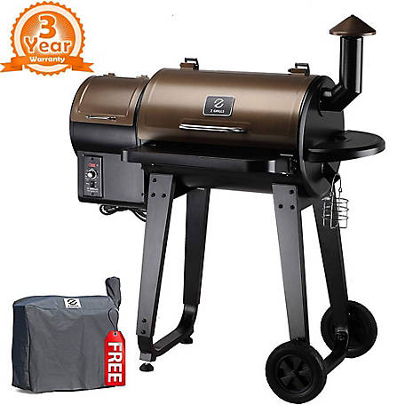 Z Grills 452 Sq In Cooking Area Bronze Black, ZPG-450A