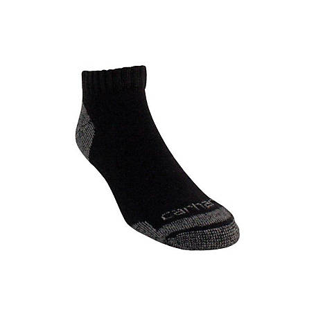 Carhartt All Season Cotton Lowcut Work Sock, Pack of 3 A60-3I