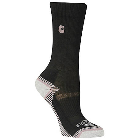 Carhartt Girl's Force Performance Crew Sock, 3 Pack GA642-3I