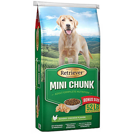 Retriever Mini Chunk Dog Food,  52 lb. bag