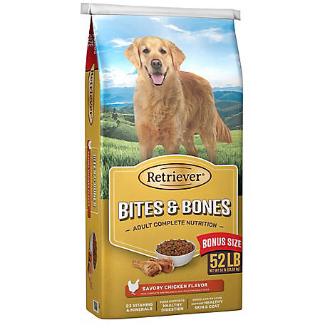 Retriever Bites & Bones Dog Food, 52 lb. bag