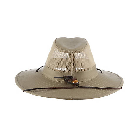 DPC Brushed Twill Mesh Safari Hat, 864M
