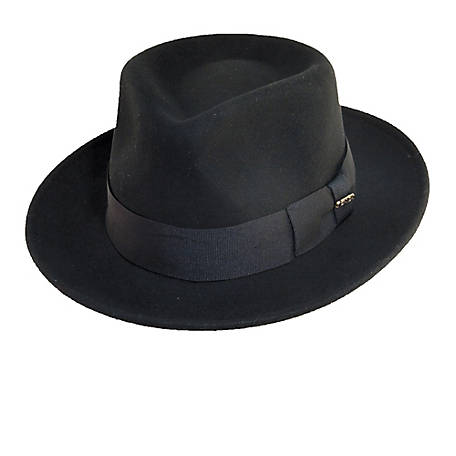 Scala Wool Felt Diamond Crown Fedora, DF109