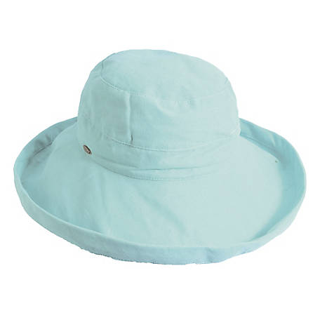 Scala Medium Brim Cotton Hat, LC484