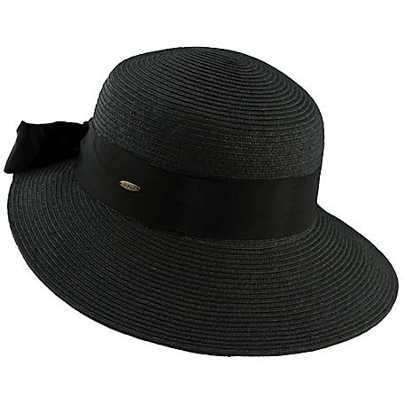 Scala Paper Braid Dimensional Brim Hat, LP149