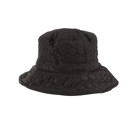 Scala Quilted Big Brim Rain Hat, LW655