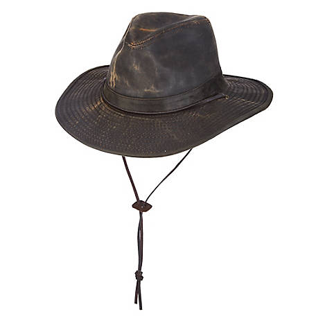 DPC Weathered Big Brim with Leather Cord Hat, MC128