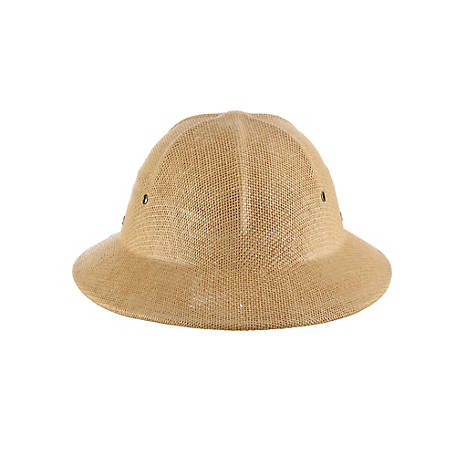 DPC Fine Twisted Toyo Pith Helmet with Faux Leather, MS414