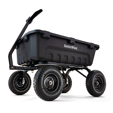 GroundWork 1,400 lb. Poly Dump Cart, GW-8