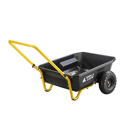 Gorilla Carts 4 Cu Ft Poly Yard Cart, GCR-4
