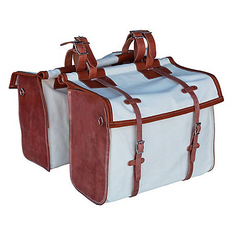 Outfitters Supply Canvas & Leather Panniers, WPA135