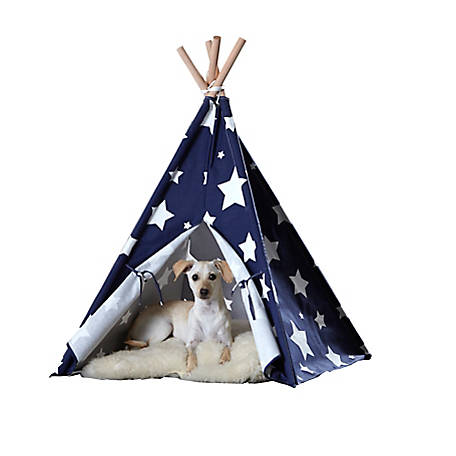 Zoovilla Pet Teepee Blue with White Stars, PTP0070203000